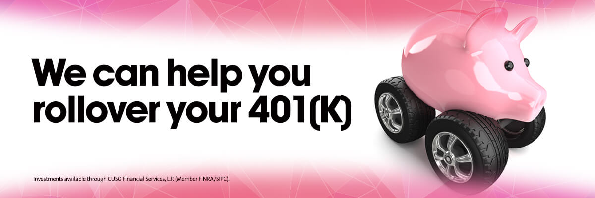 We can help you roll over your 401k